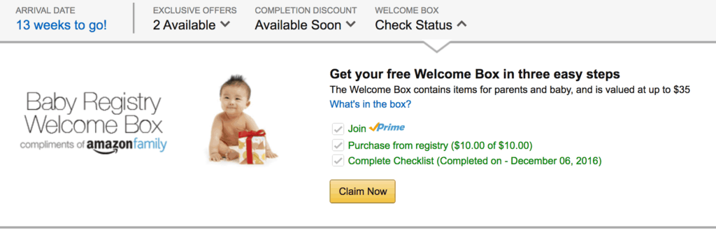 Get the Free Baby Registry Welcome Box