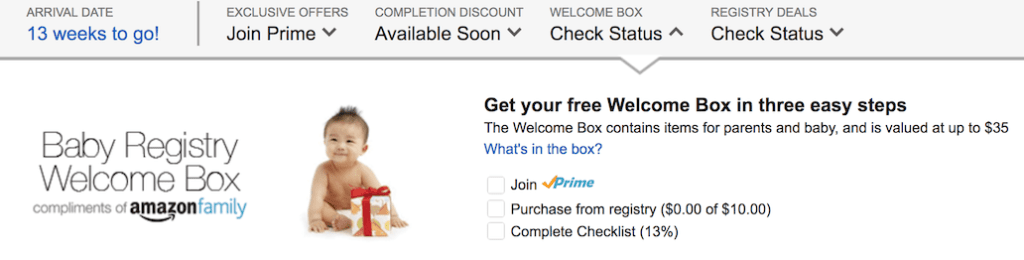 How to get your New Baby Registry Welcome Box