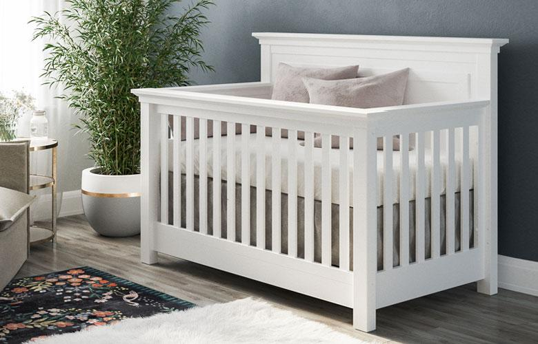 solid white romina furniture karisma convertible crib in white